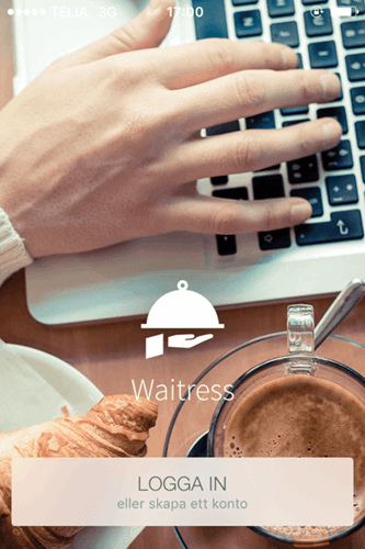 Waitress app startsida