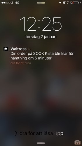 Screenshot från Waitress